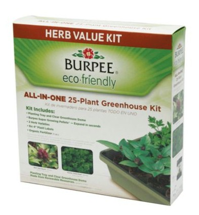 Burpee 25-Plant Eco-Friendly Greenhouse Herb Kit