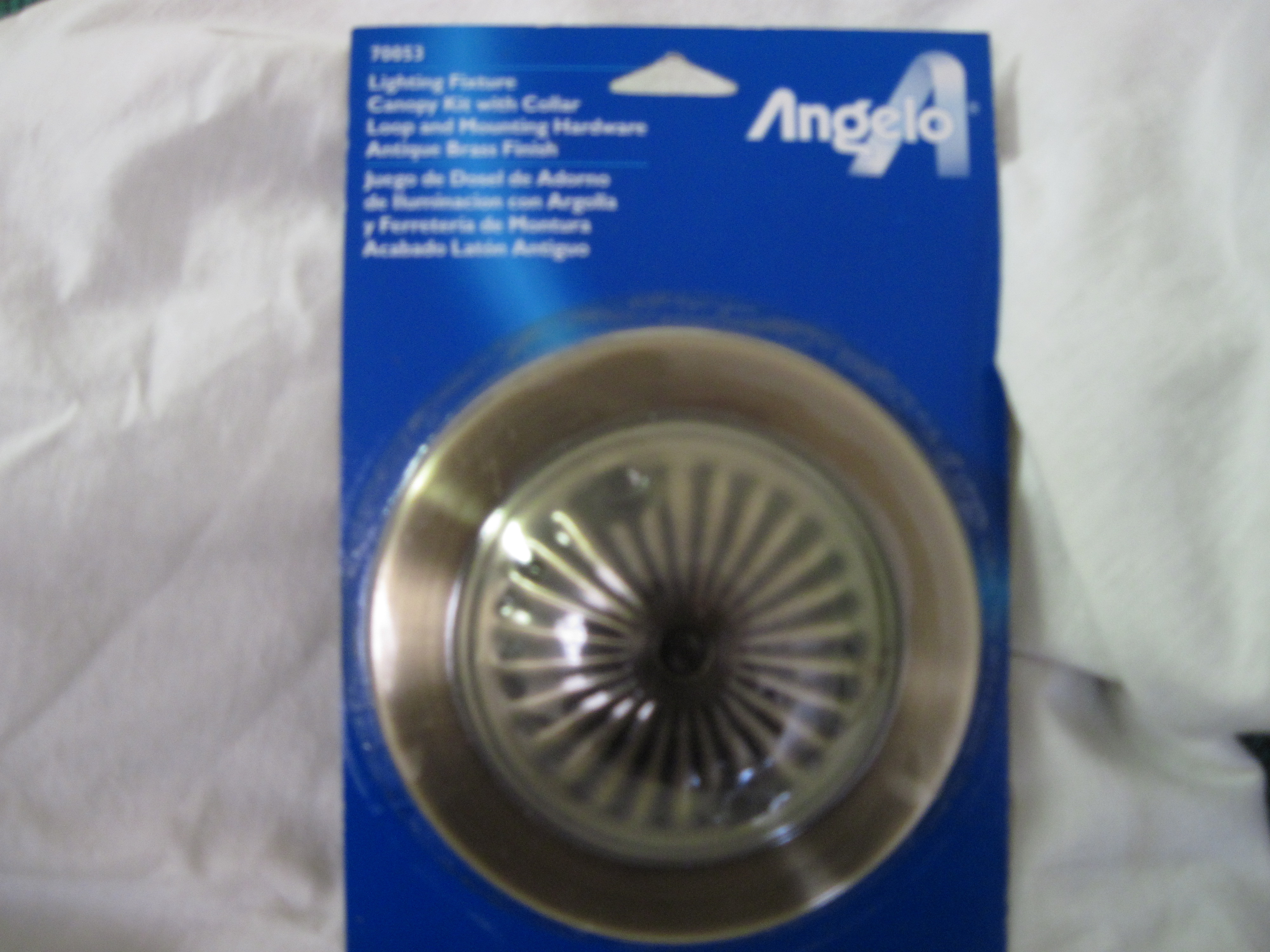 Angelo Brothers Canopy Kit with Collar - Antique Brass Finish