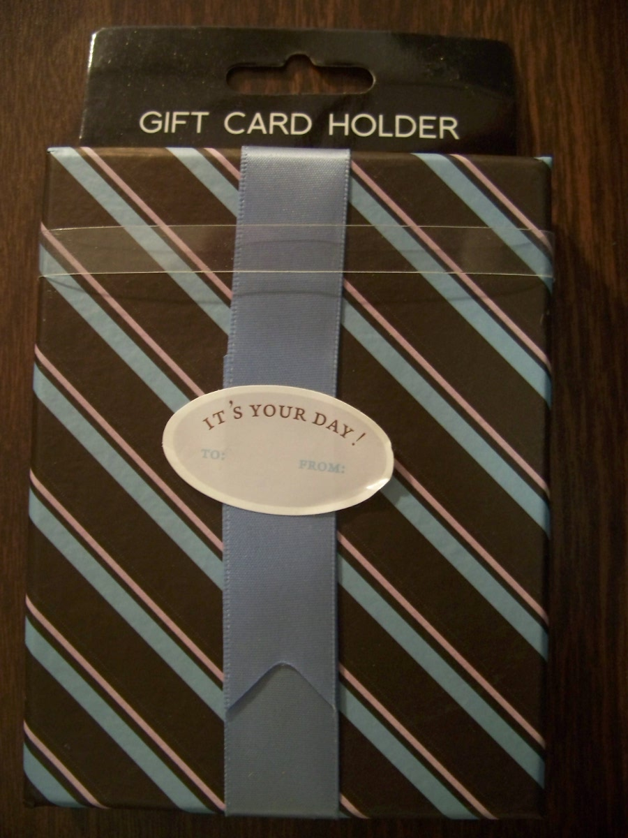 Striped Cardboard Gift Card Holder
