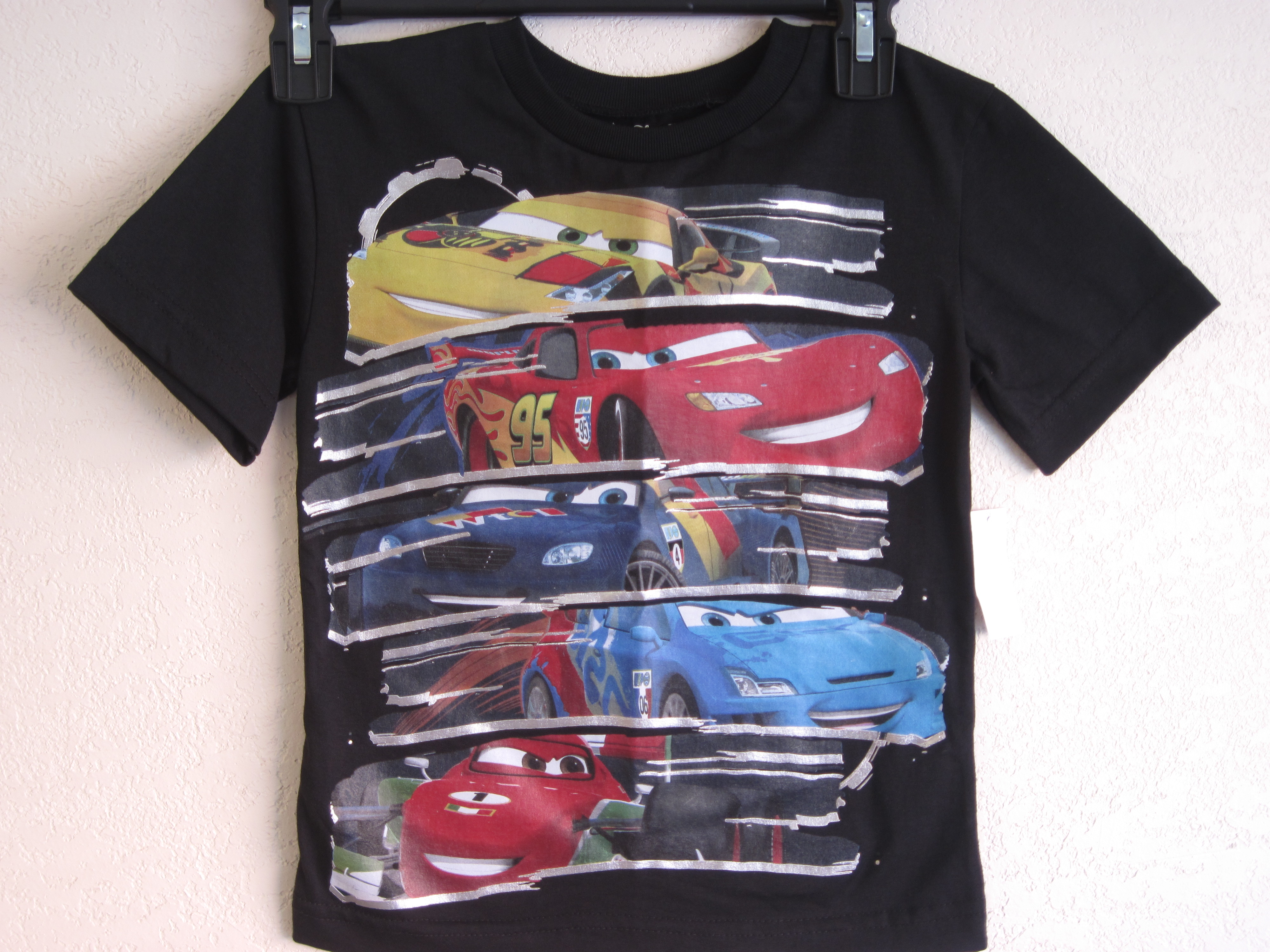 Disney*Pixar Cars 2 Sz M 5/6 T-Shirt (black)