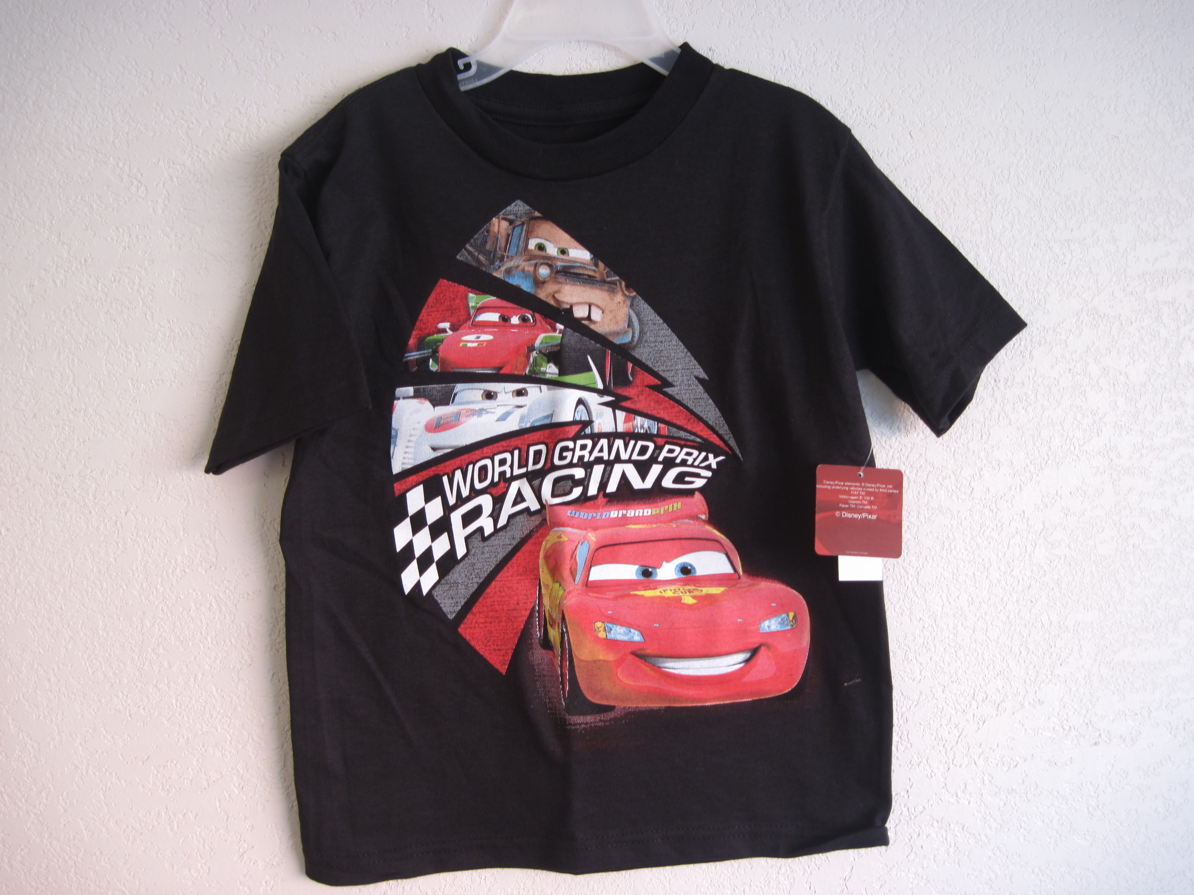 Disney Cars Sz S 5/6 T-Shirt (black)