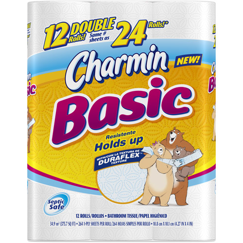 Charmin Basic Toilet Paper, 12ct