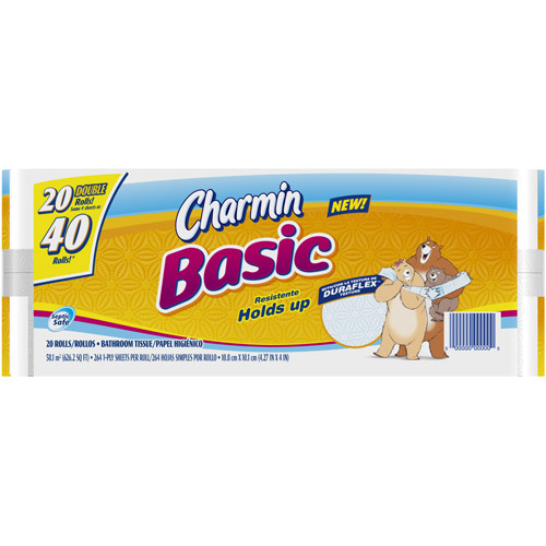Charmin Basic Toilet Paper, 20ct