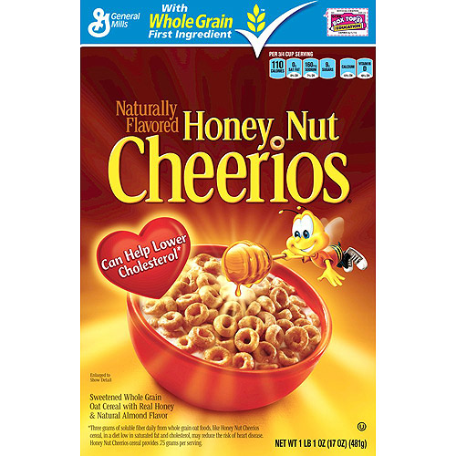 Honey Nut Cheerios Cereal, 17 oz
