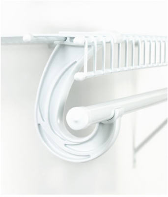 ClosetMaid 5-1/2 in. snap in Closet Rod Support Bracket 5629