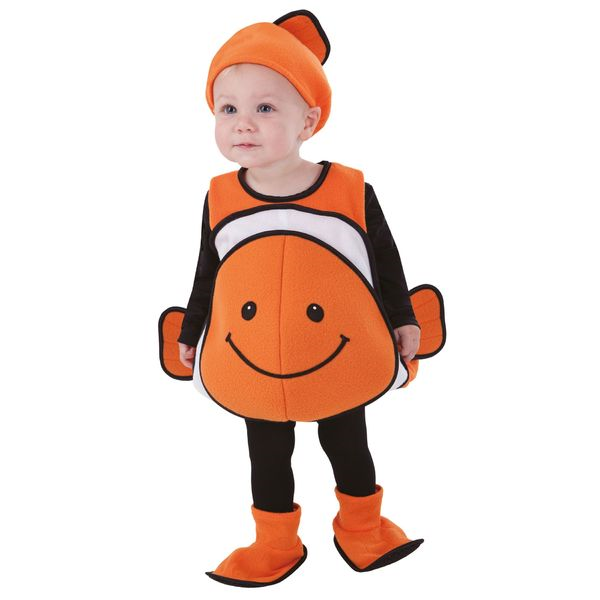 totally ghoul clown fish vest toddler halloween Body 12-24 M