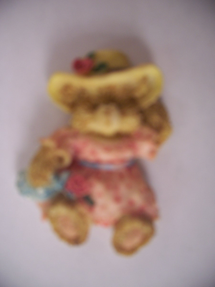 Collectible Girl Bear Refrigerator Magnet