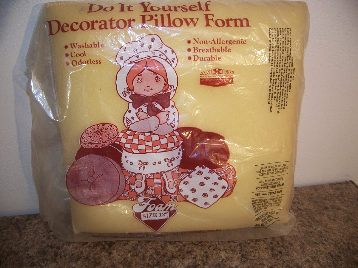 Do It Yourself Decorator Pillow Form Insert 12 X 12