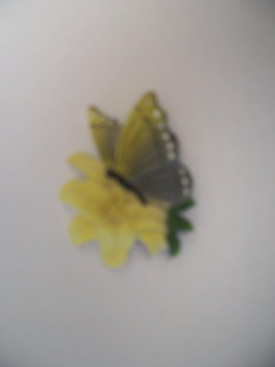 Collectible Yellow Flower Butterfly Refridgerator Magnet