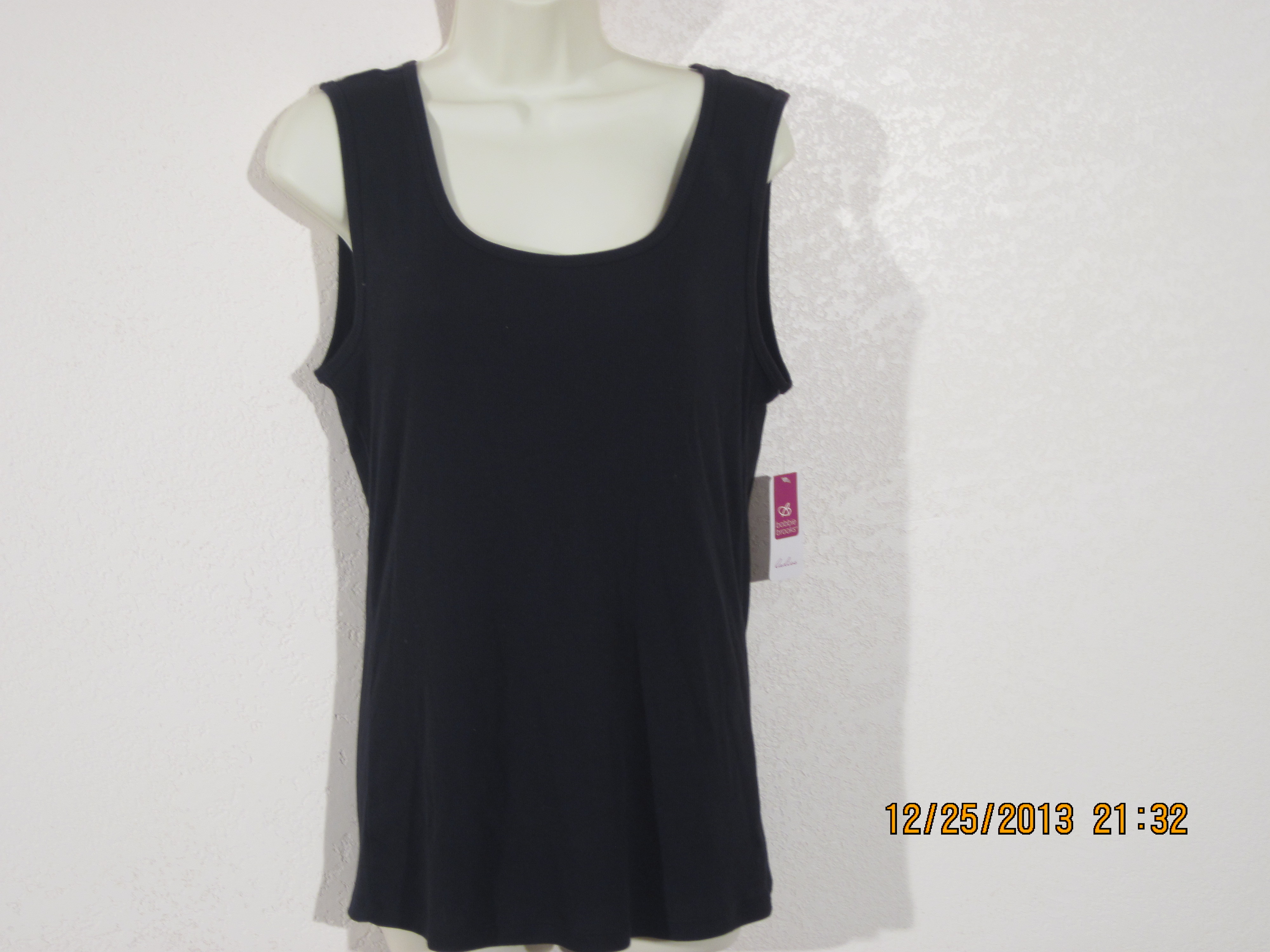 Bobby Brooks Sz 1X 16-18 Tank Top (black)