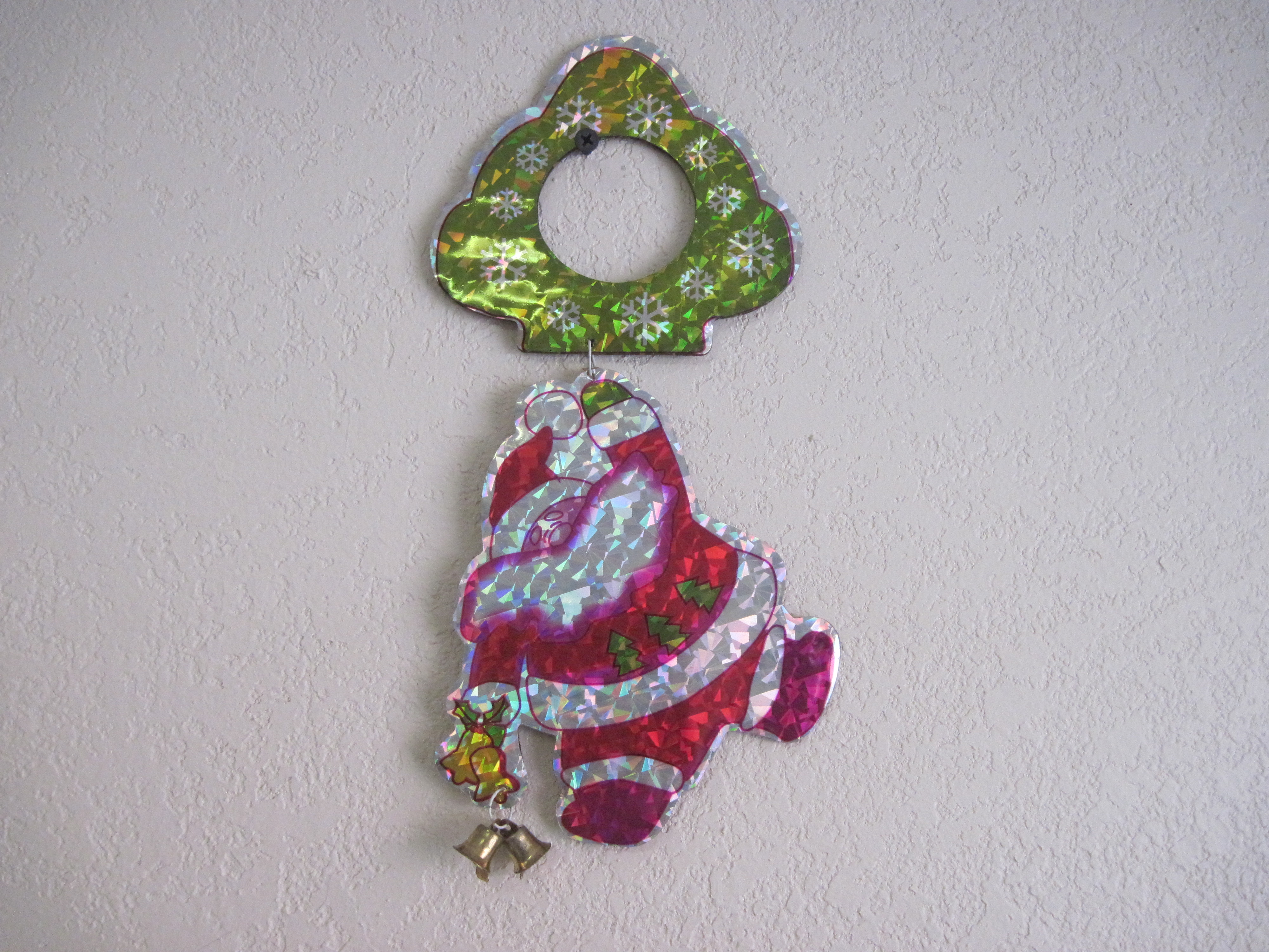 Door Knob Hanger - dancing santa with bells