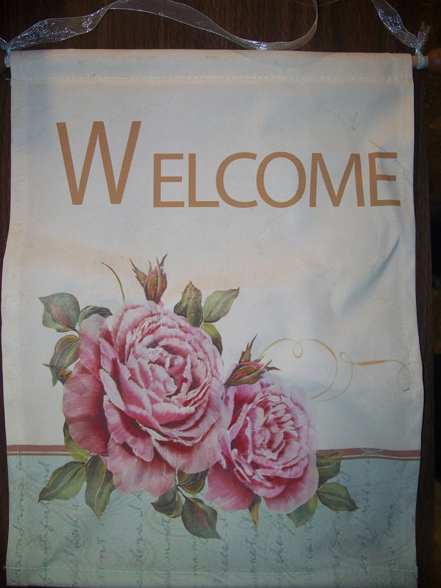 Decorative Banner ( Welcome Pink Roses )
