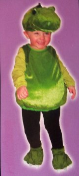 Infants 12-24M 4Pc Padded Green Dino Halloween Costume