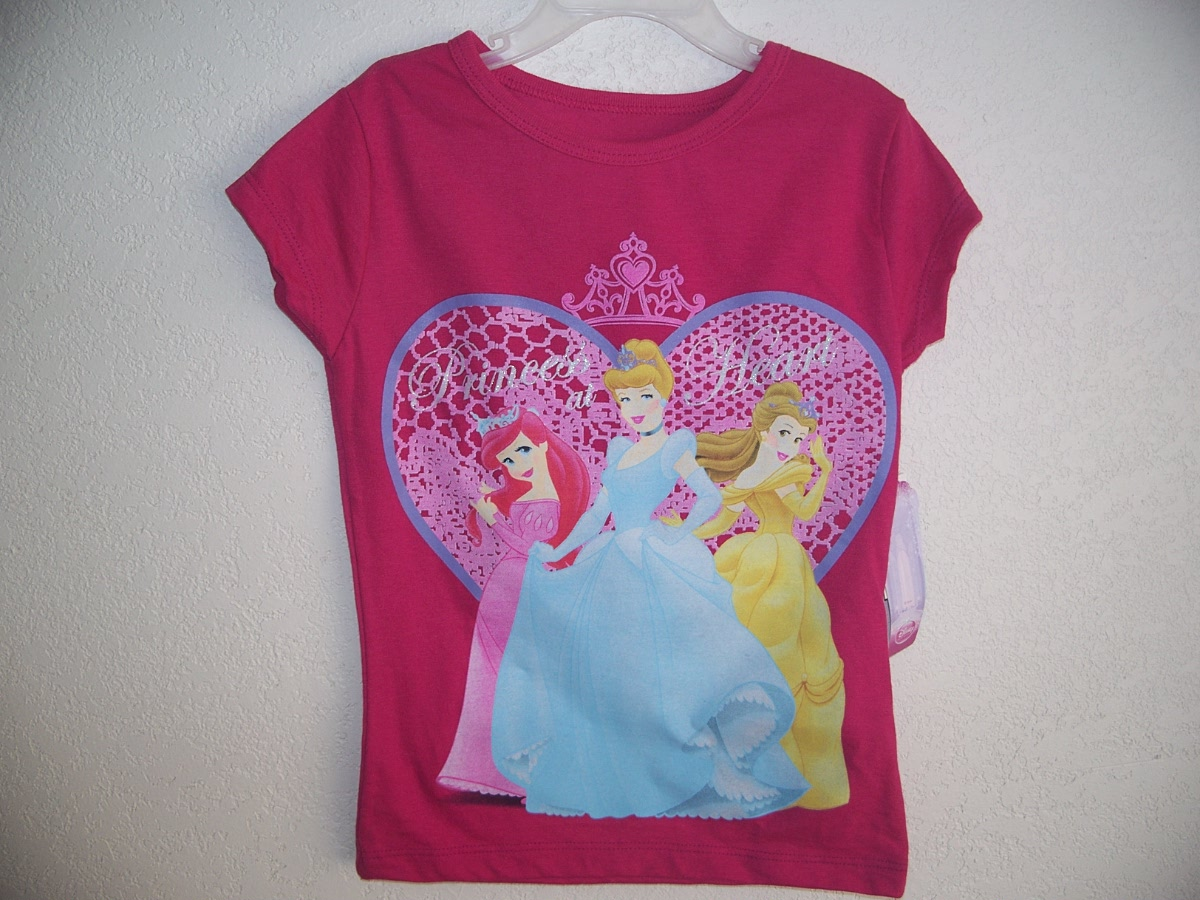 Disney Princess at Heart Sz 4/5 T-shirt