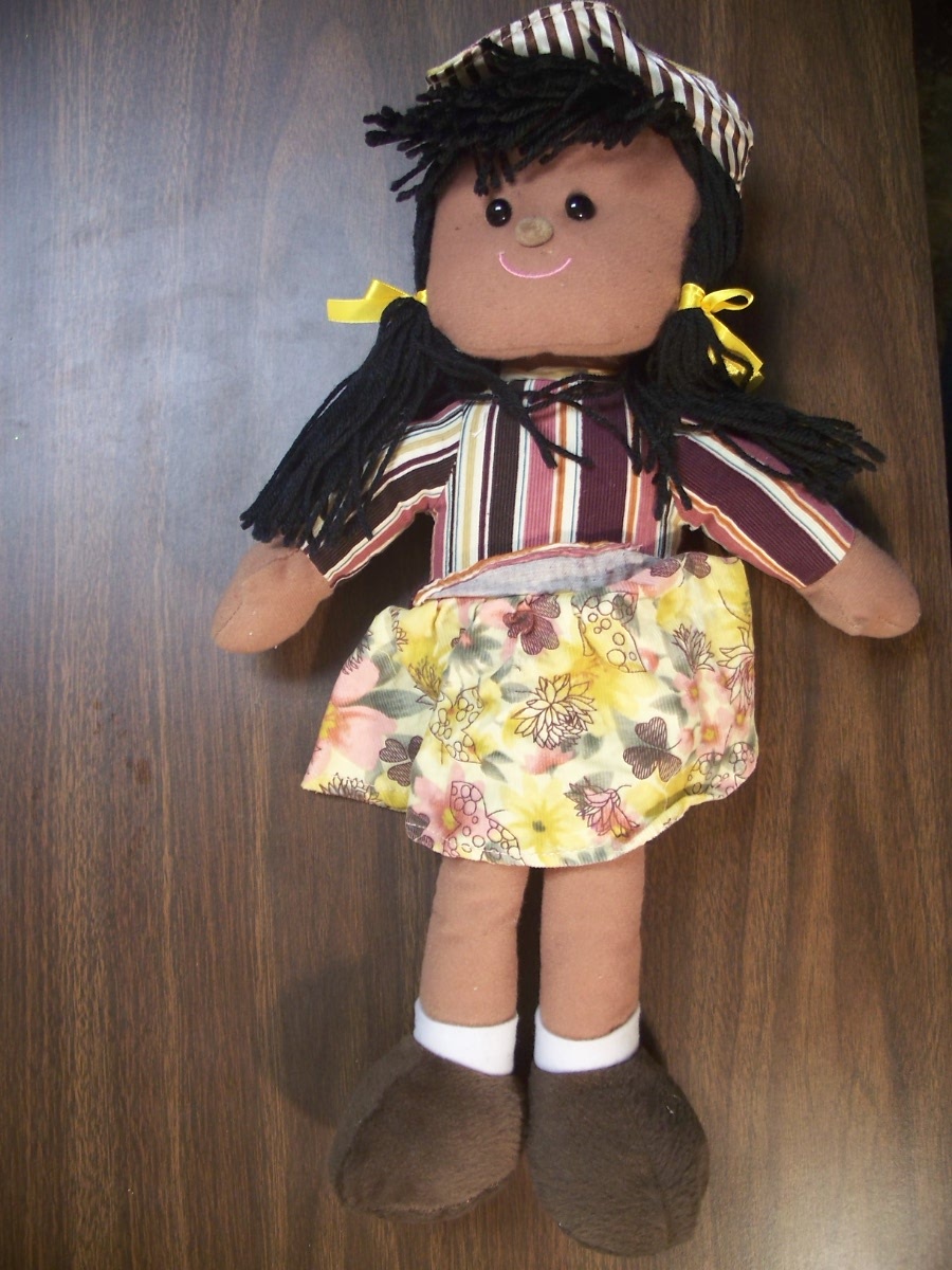 Dolls (yellow/ pink flower skirt )