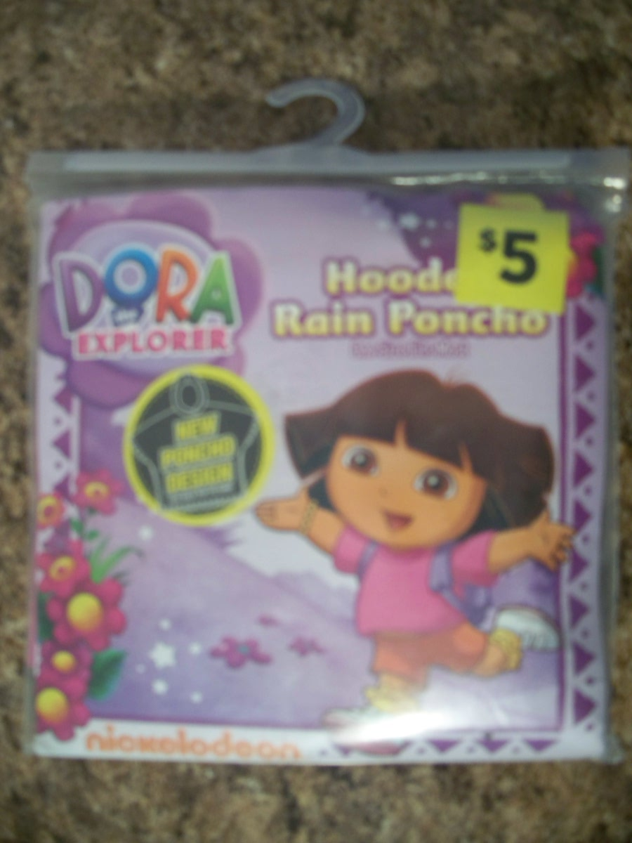 Dora the Explorer(Hooded Rain Poncho)