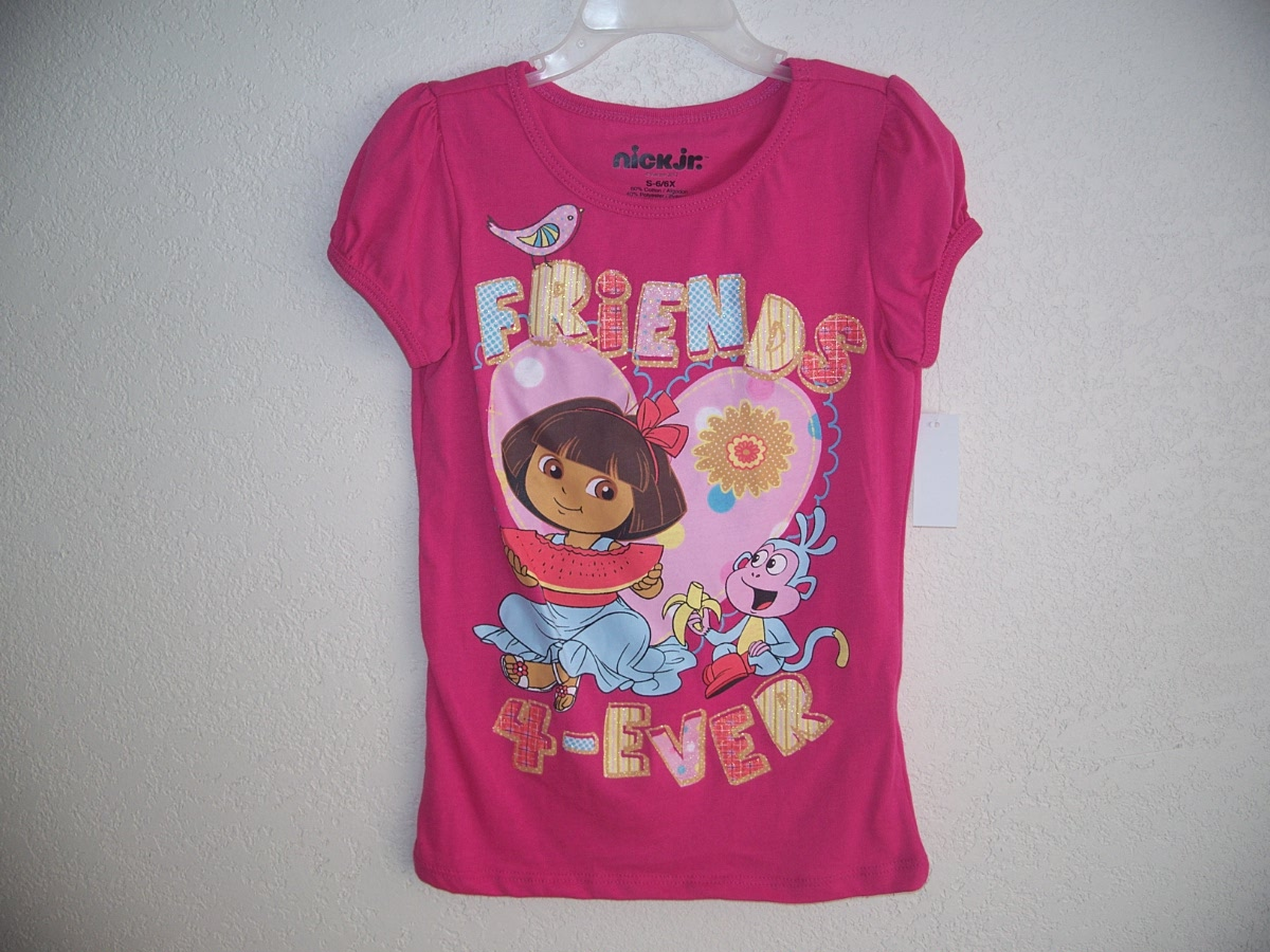 Sz Small 6/6X Pink Dora T-Shirt(Friends are Forever)