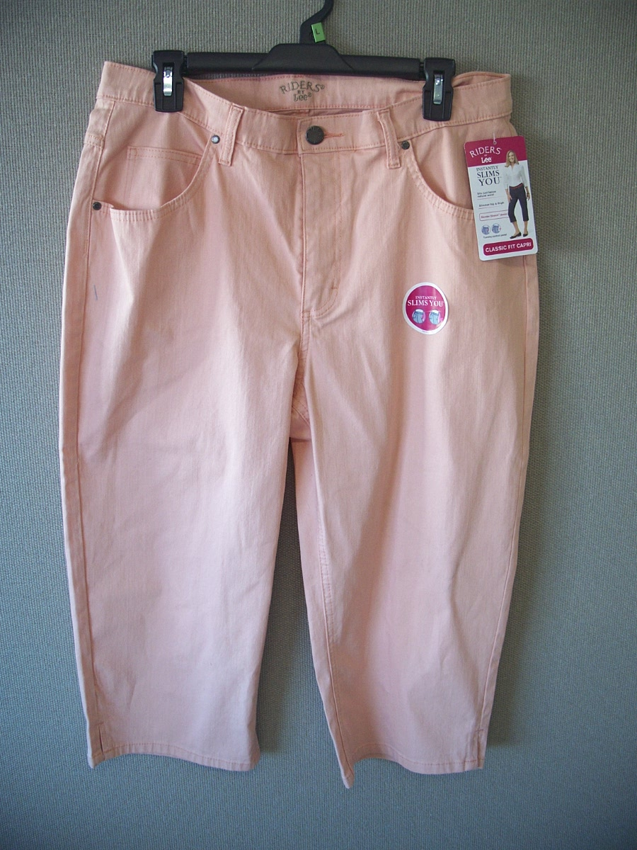 Riders By Lee Sz 16M Classic Fit Capri(dusty pink)