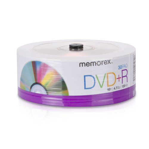 Memorex 4.7GB 16x DVD+R, 30pk with Spindle