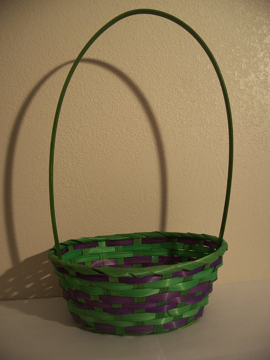 Green and Purple Easter Basket
