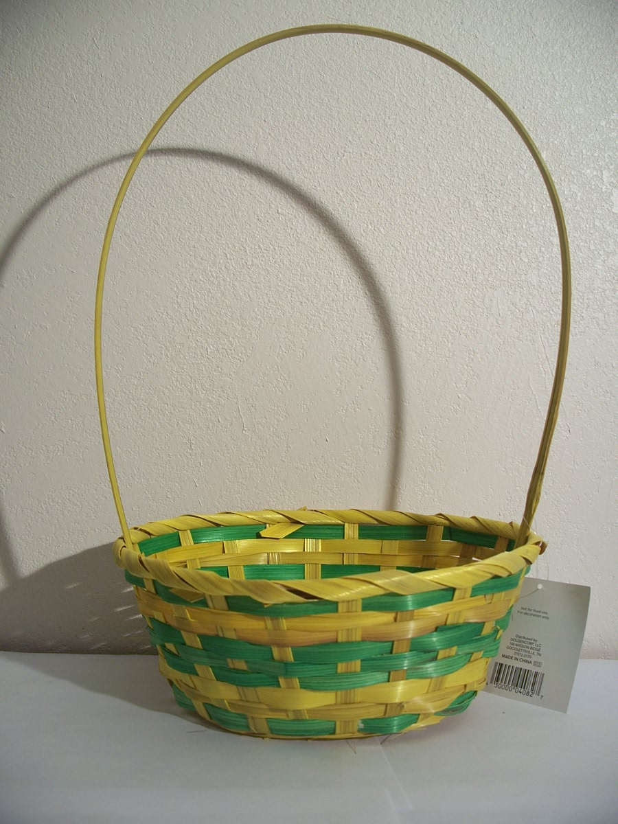 Yellow and Green Easter Basket