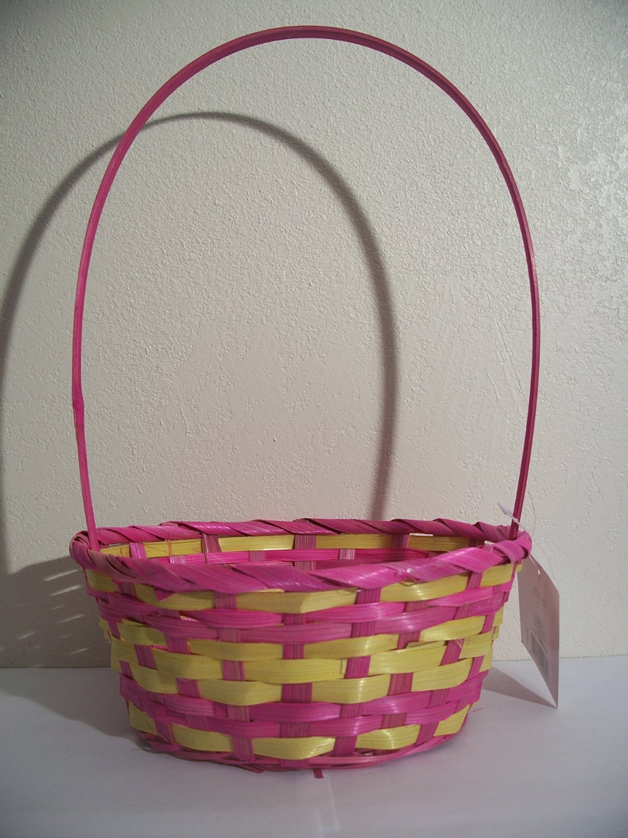 Yellow and Pink Easter Basket