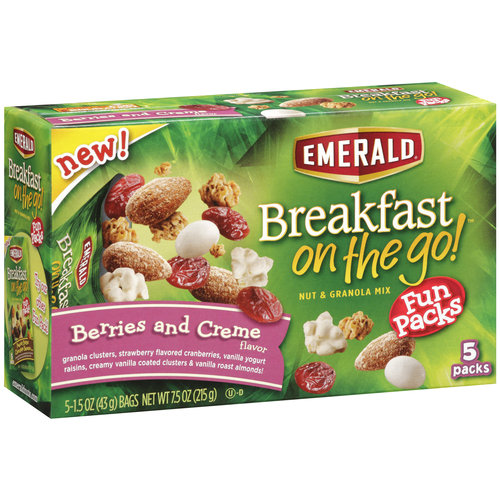 Emerald Breakfast On The Go! Berries And Creme Nut & Granola Mix