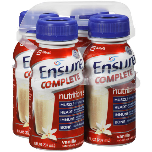 Ensure Complete Vanilla Nutrition Shakes, 8 fl oz, 4 count