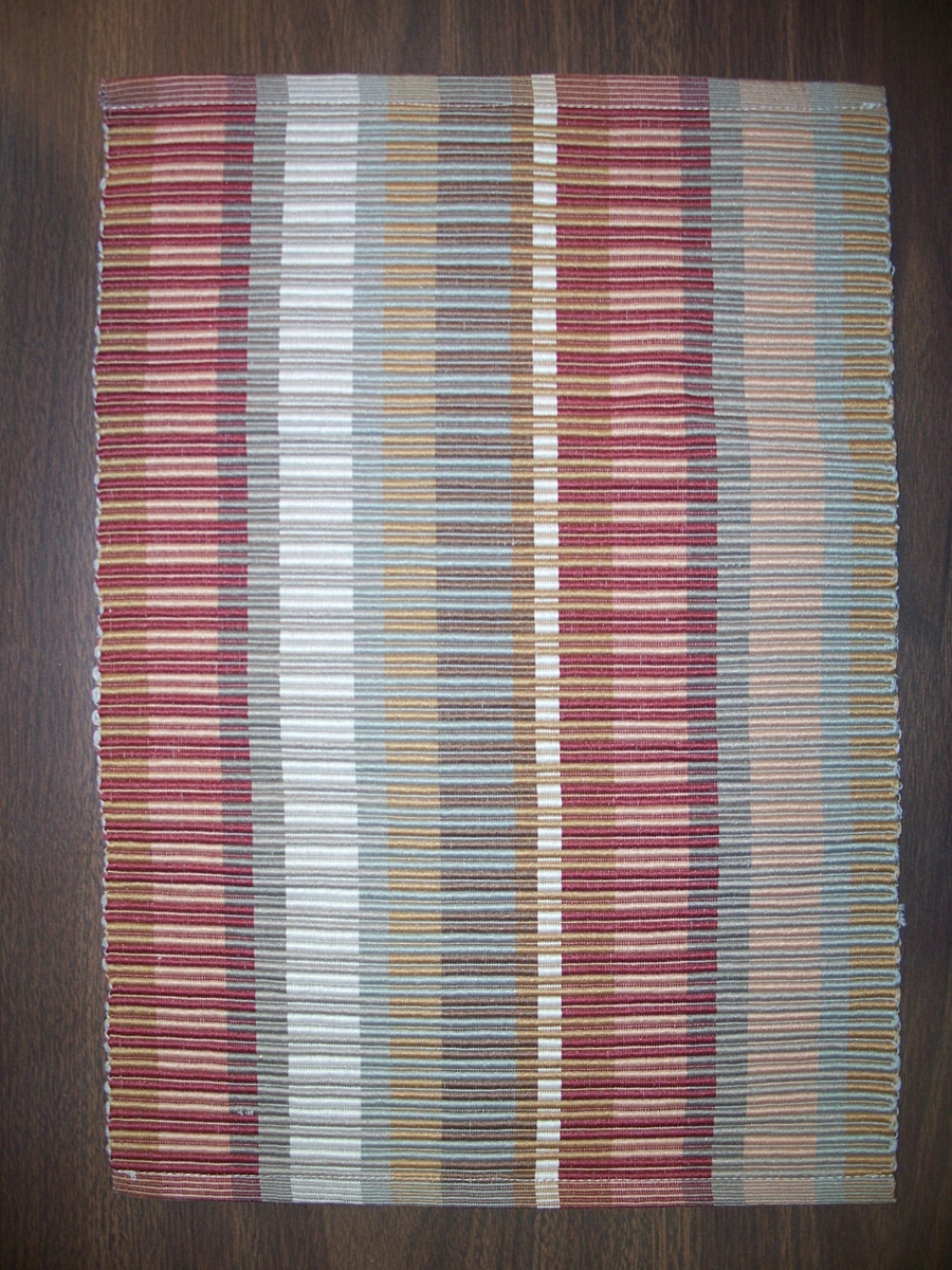 Fabric Placemat Brown,Tan, Burn Red