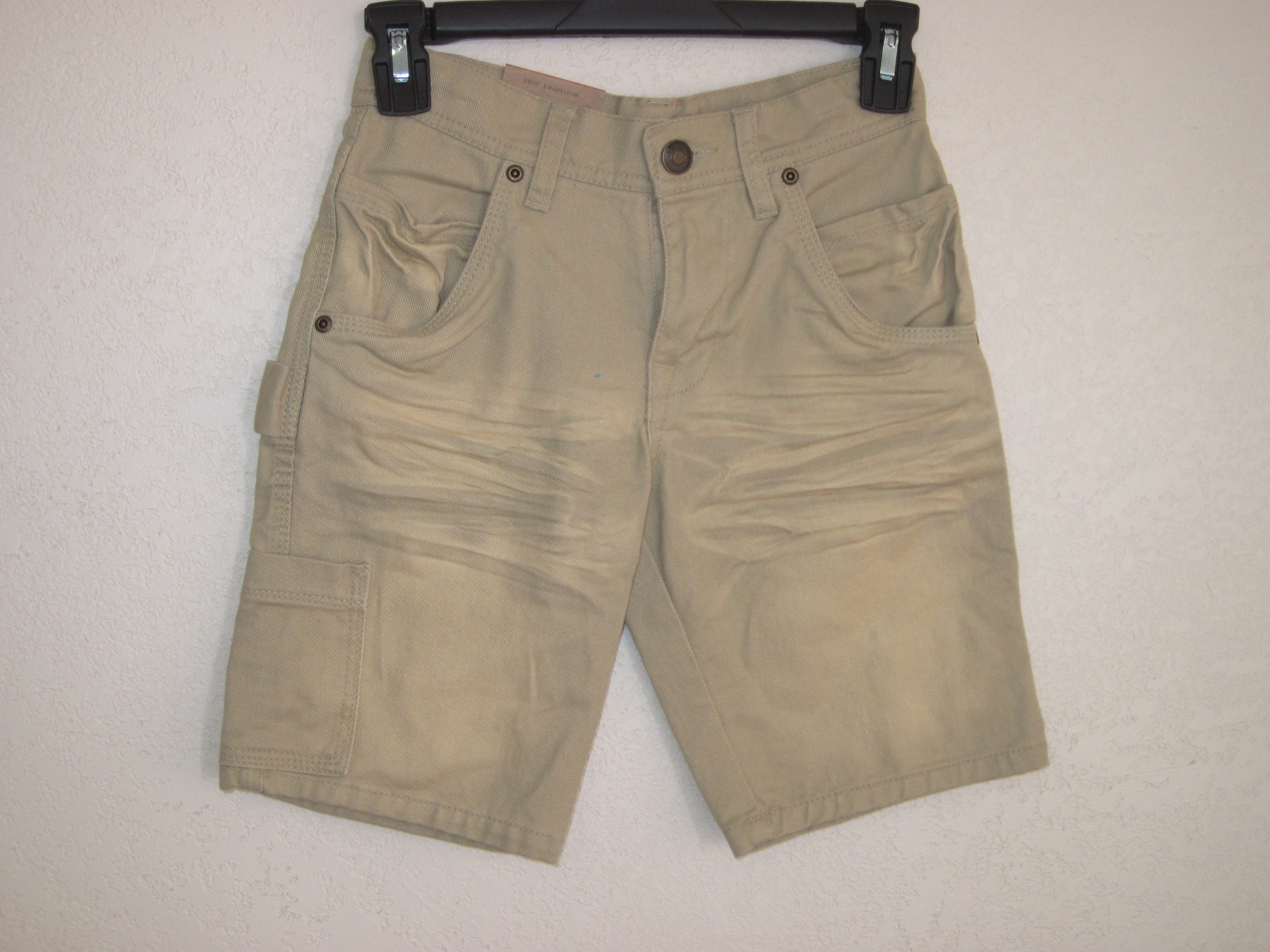 Route 66 Sz 8 Slim Carpenter Jean Shorts (faded light brown)
