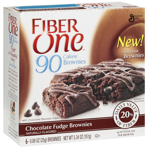 Fiber One 90 Calories Chocolate Fudge Brownies, 6ct