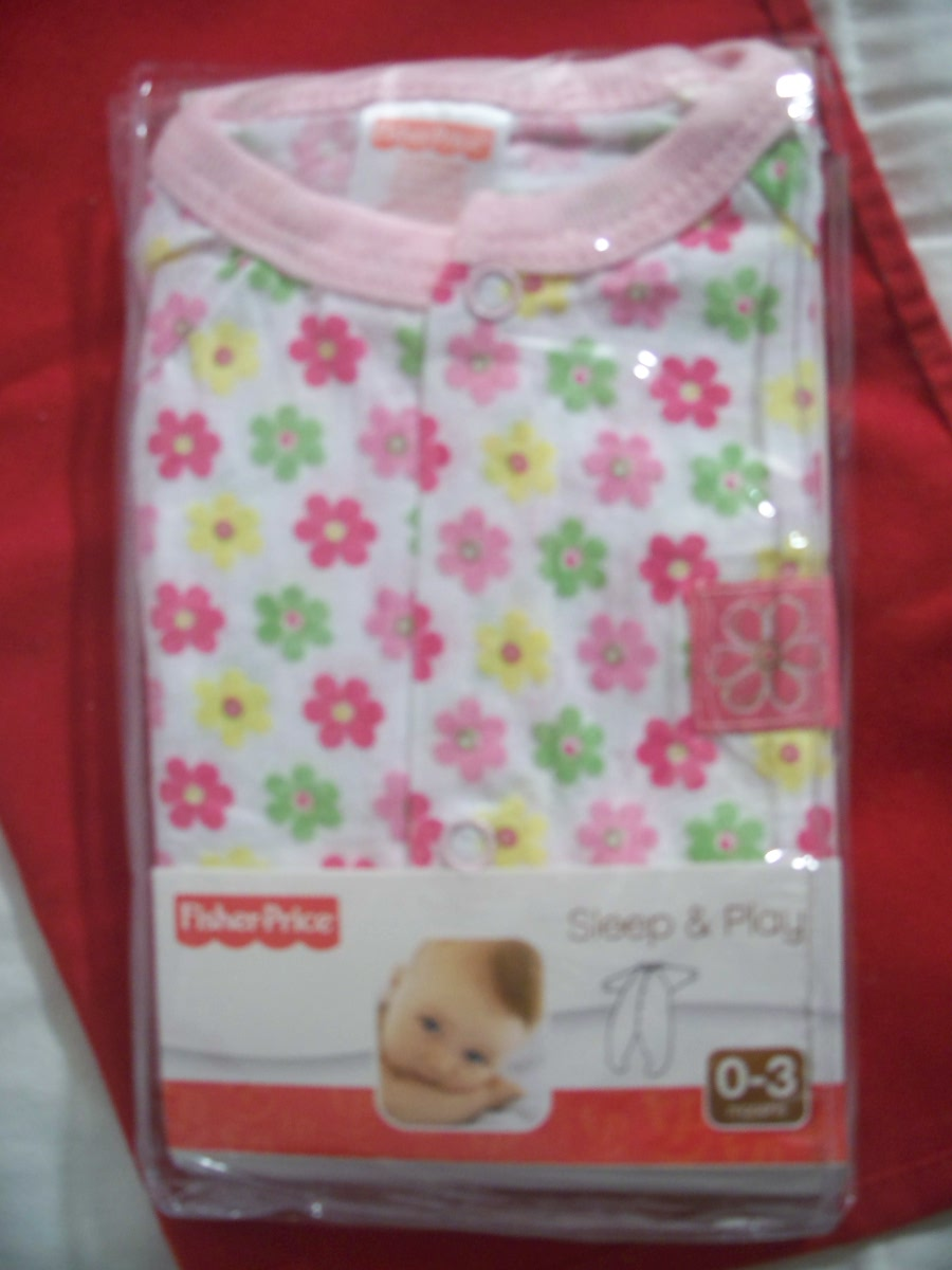 Fisher-Price SZ 0-3 Sleep & Play ( Pink with Flowers )