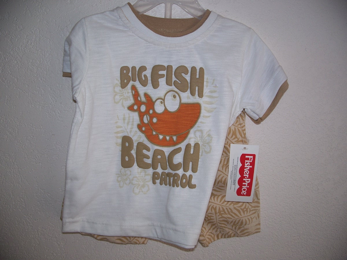 Fisher-Price SZ 12 Months Short Set ( Big Fish Beach Patrol )