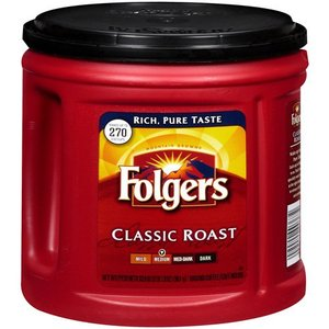 Folgers Medium Classic Roast Ground Coffee, 33.9 oz