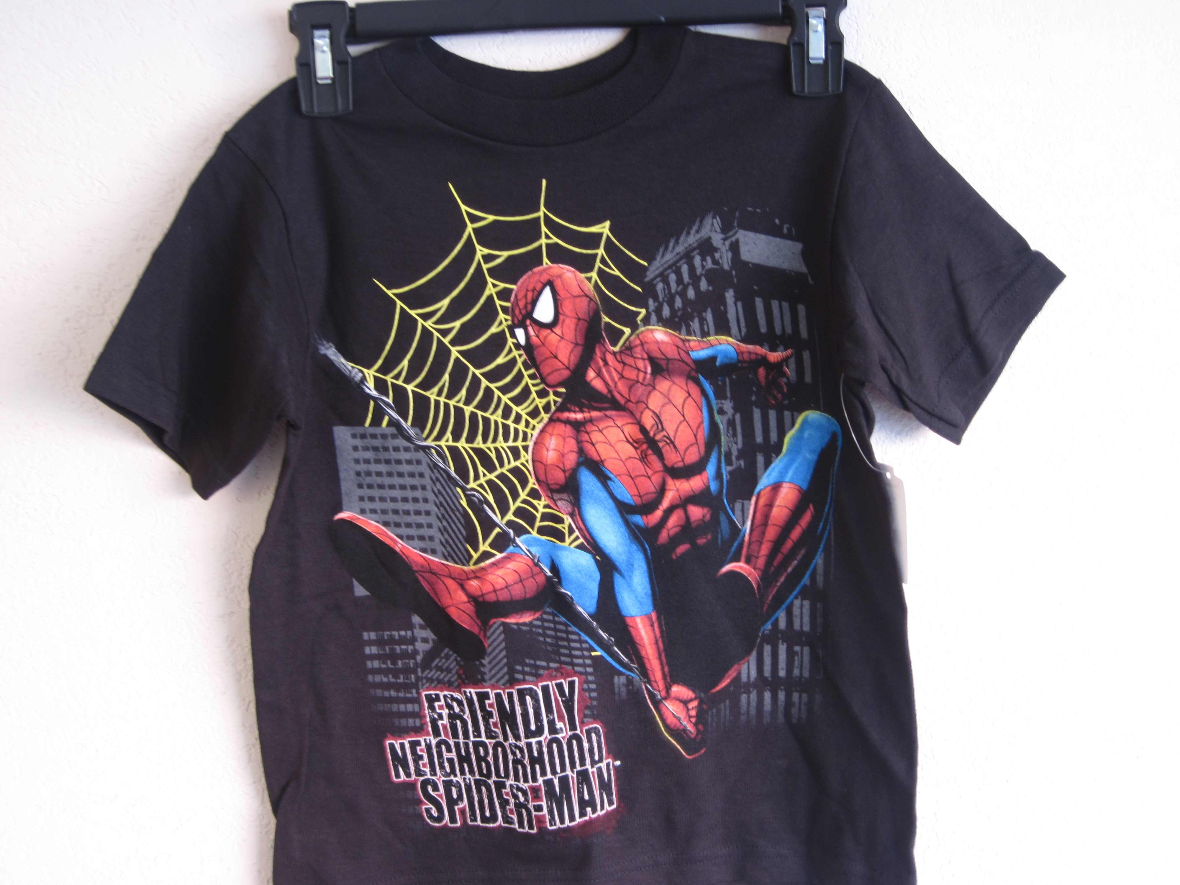 Delta Spider-Man T-Shirt Sz 5/6 (black)