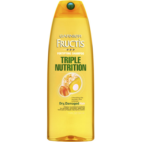 Garnier Fructis Triple Nutrition Shampoo for Dry, Damaged Hair,