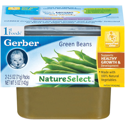 Gerber 1st Foods Baby Food - Green Beans - 1 Pack (2 tubs)