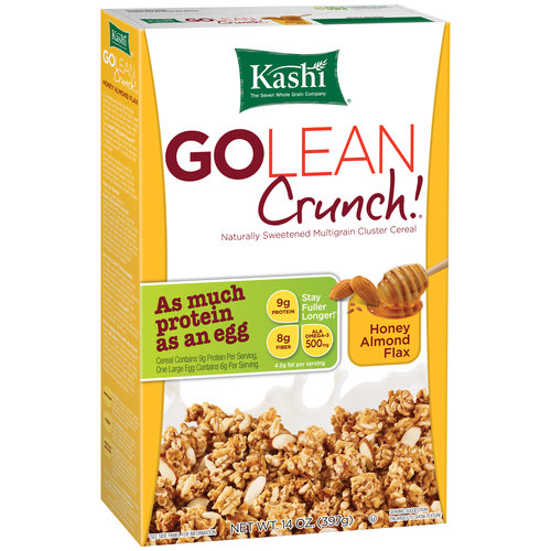 Kashi GoLean Crunch! Honey Almond Flax Cereal, 14 oz
