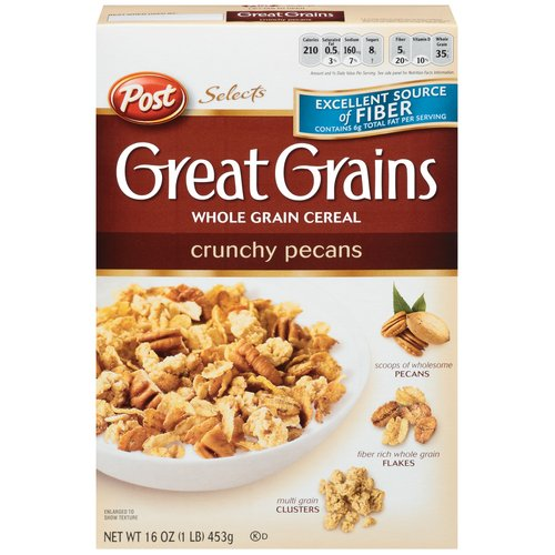 Post Selects Great Grains Crunchy Pecans Cereal, 16 oz
