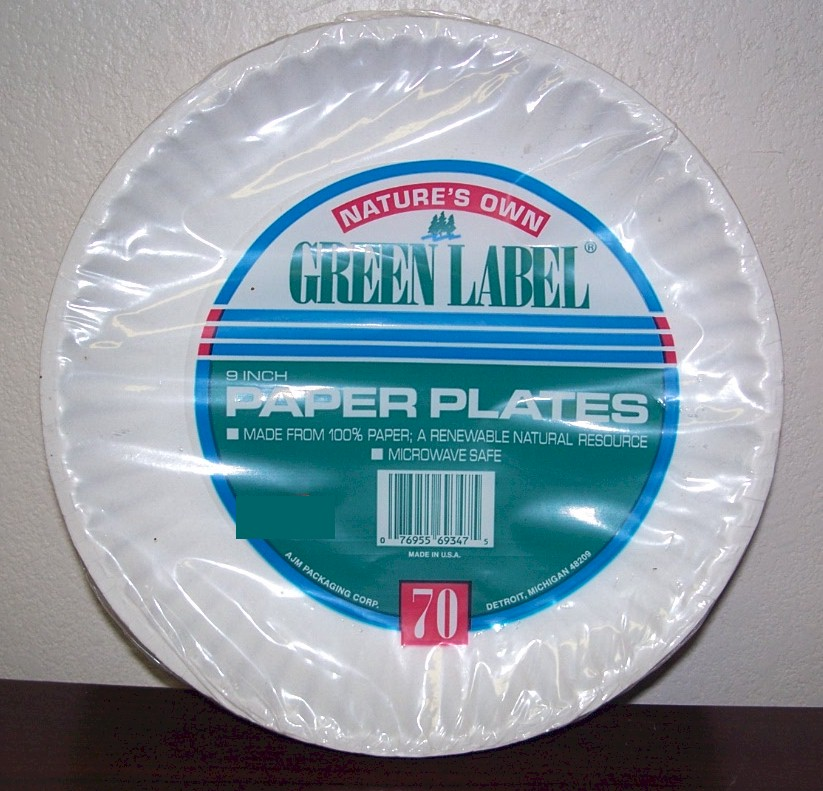 "Green Label 9"" Paper Plates"