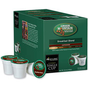 Keurig K-Cups, Green Mountain Breakfast Blend Coffee, 18 ct