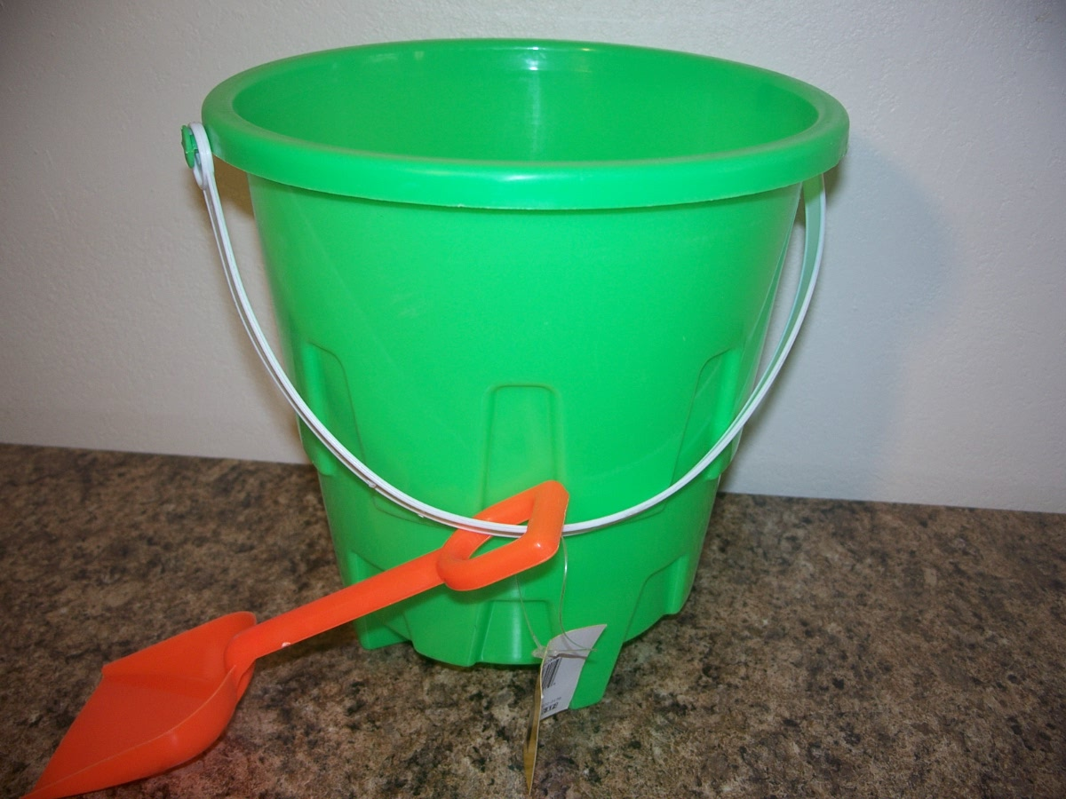 Green Sand Pail and Shovel