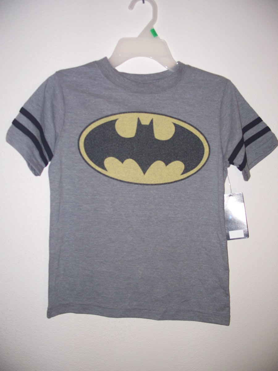 Batman T-Shirt Sz S 5/6 (Grey)
