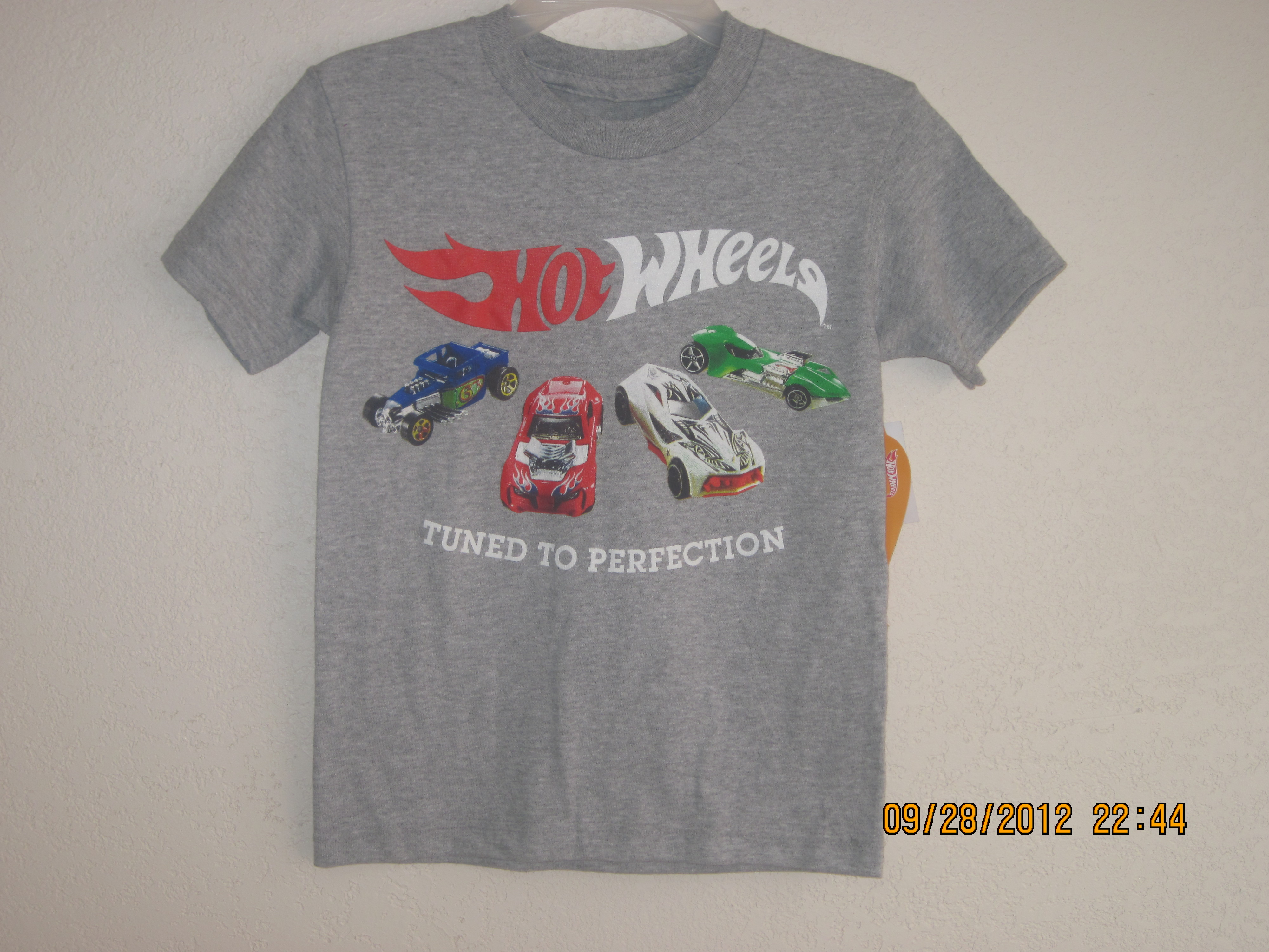 Hot Wheels T-Shirt Sz XS 4 (Grey)