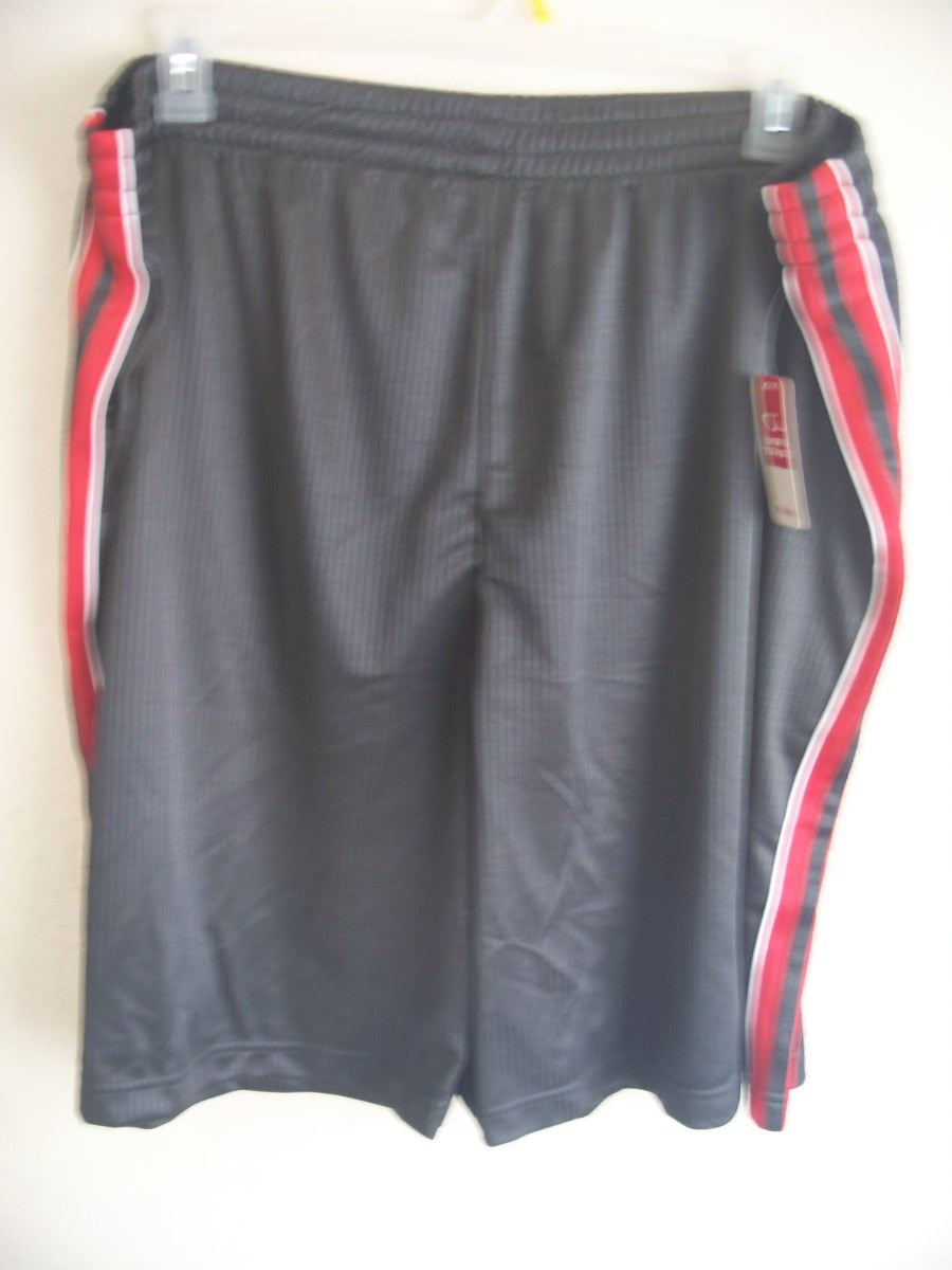 Open Trails Sz XL Mesh Activewear Shorts(grey,red & white)