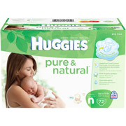 HUGGIES - Pure and Natural Diapers:
