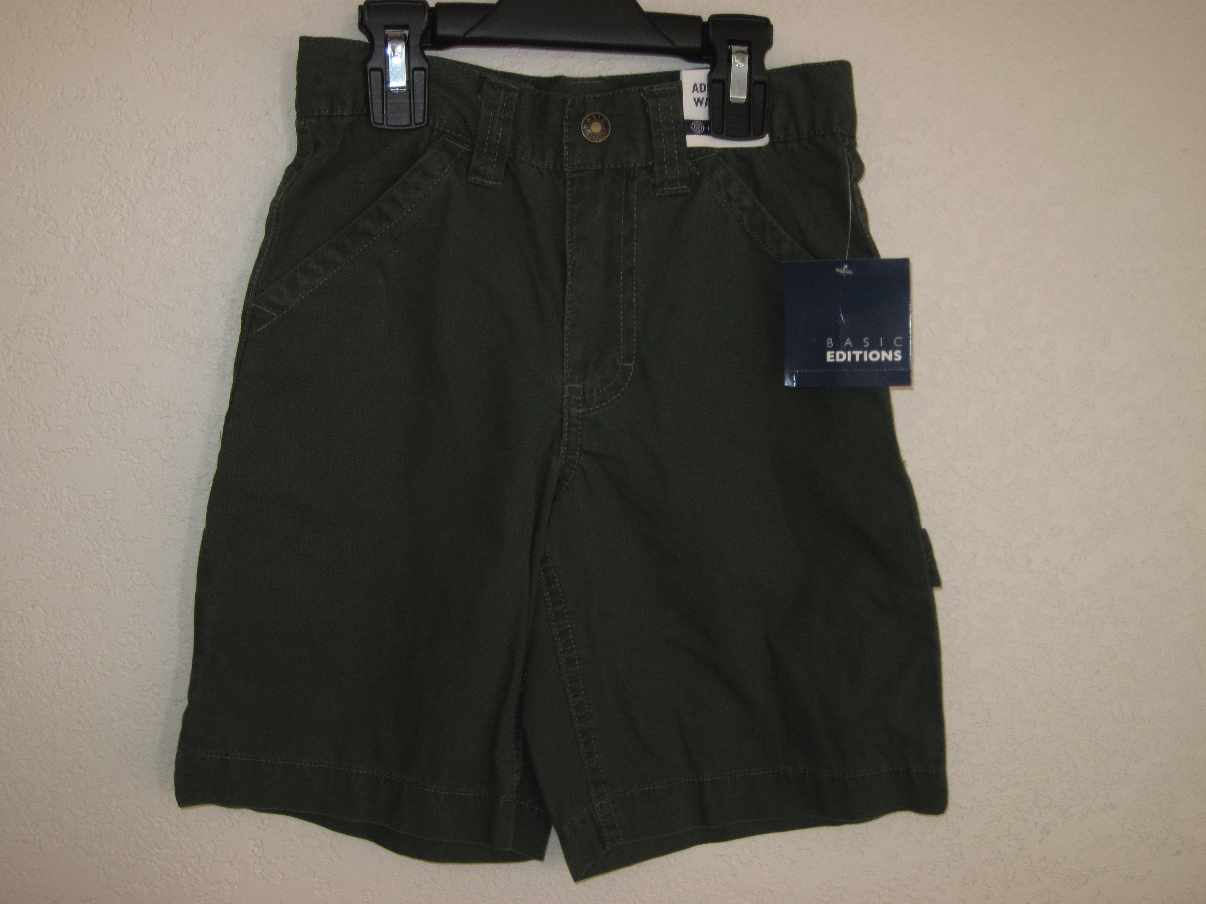 Basic Editions Sz 5 Carpenter Shorts (hunter green)