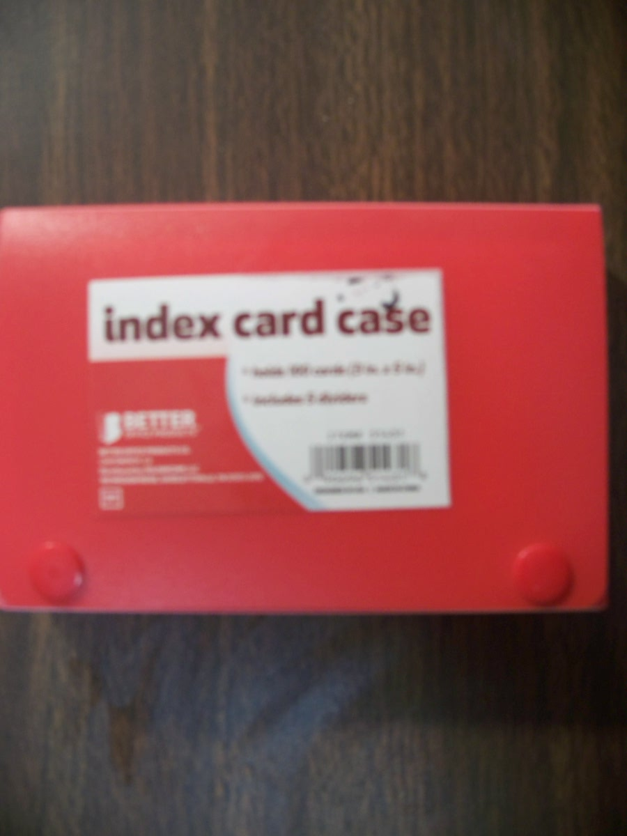Index Card Case (Red)