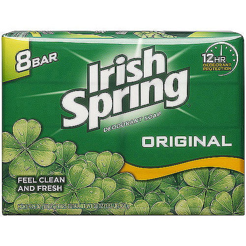 Irish Spring Deodorant Soap Bar, 3.75 oz