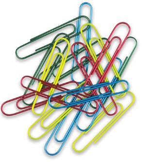 Nicole Design Colored Paper Clips 30 ct.
